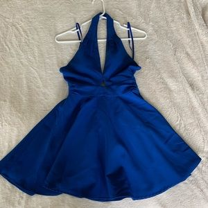 MILLY MINIS Gorgeous Blue Halter flare Dress